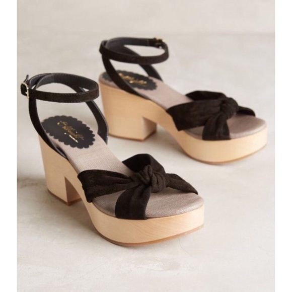 f26f4e19e489 Anthropologie Shoes - Miss Albright Petra Clog Wooden Sandals Heels 7